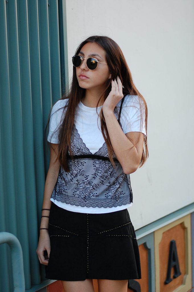 zara shirt and skirt