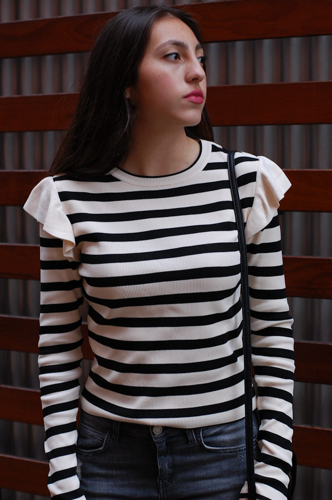 Striped shirt front