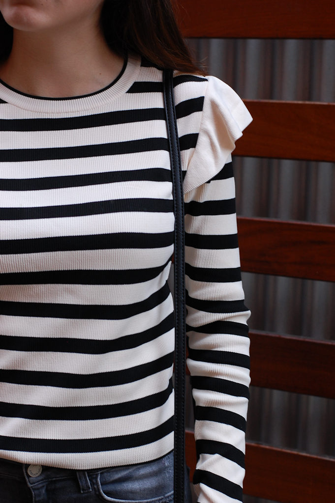 Striped shirt half