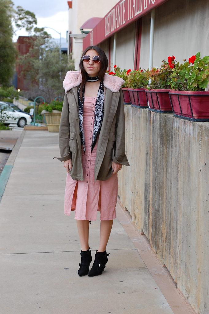 Pink strapless dress Jacket