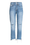 H&M blue distressed jeans