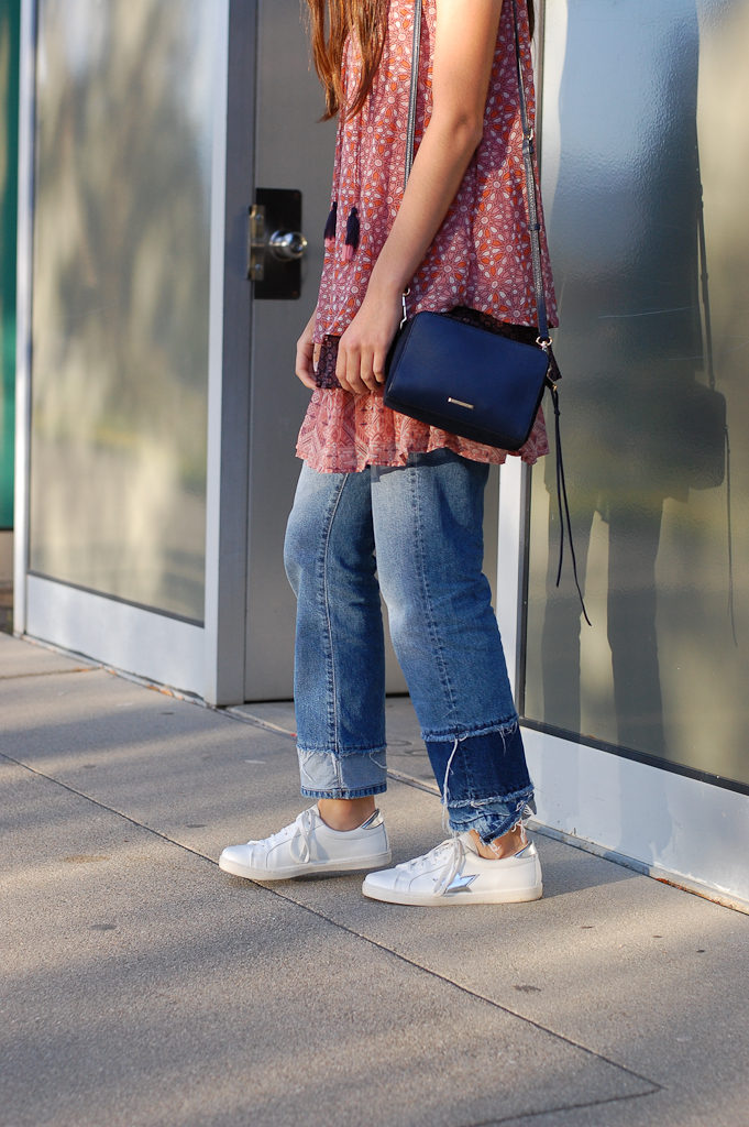 Layered dress over Jeans half