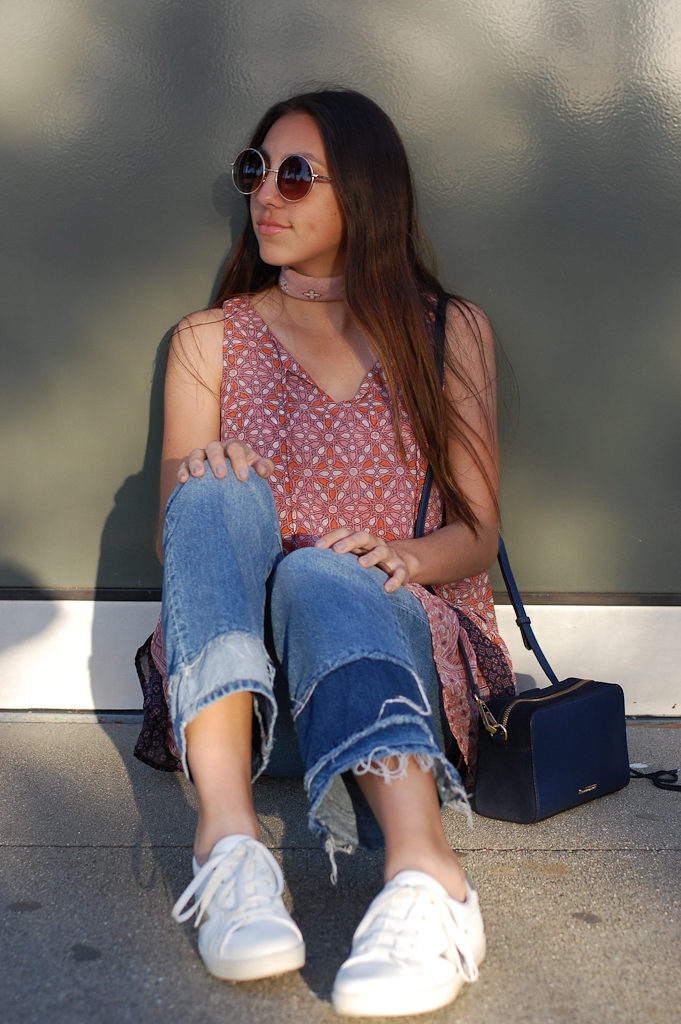 Layered dress over Jeans smile