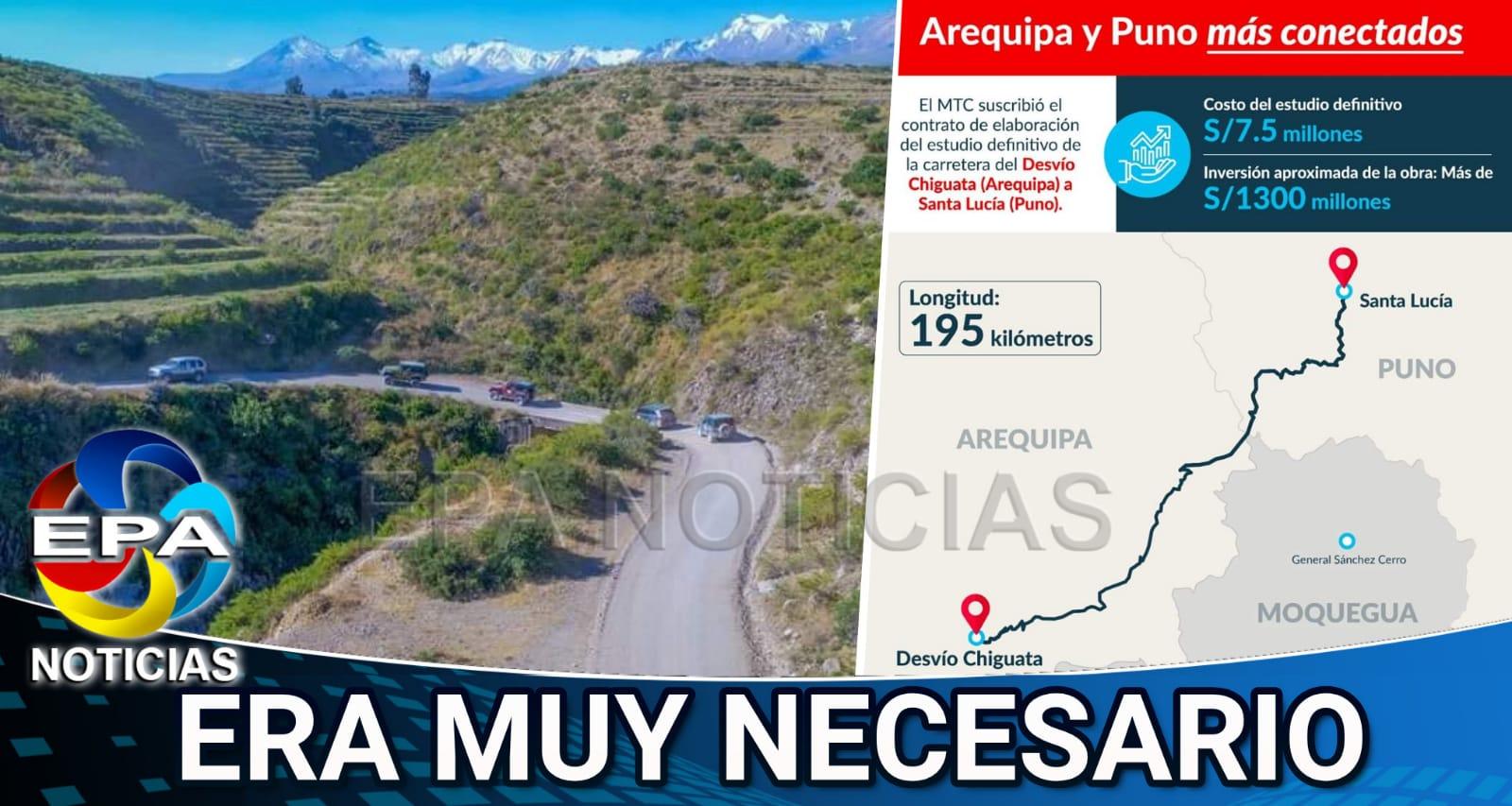Arequipa. Mantenimiento beneficiará hasta a los pueblos de Moquegua.