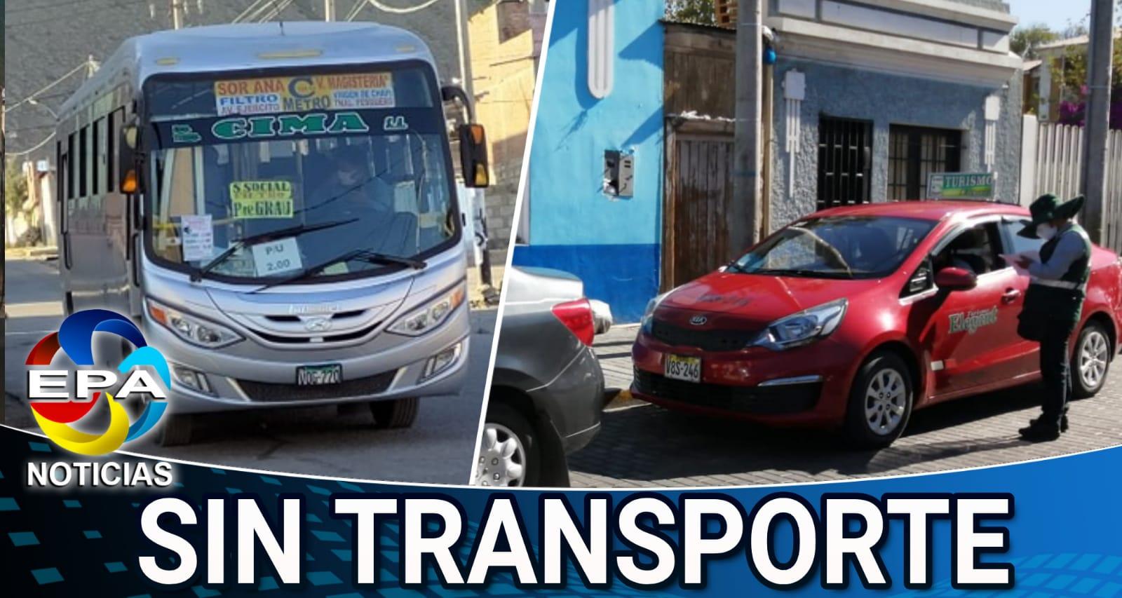 Arequipa. Otra vez la ciudad se queda sin transporte público ni taxis