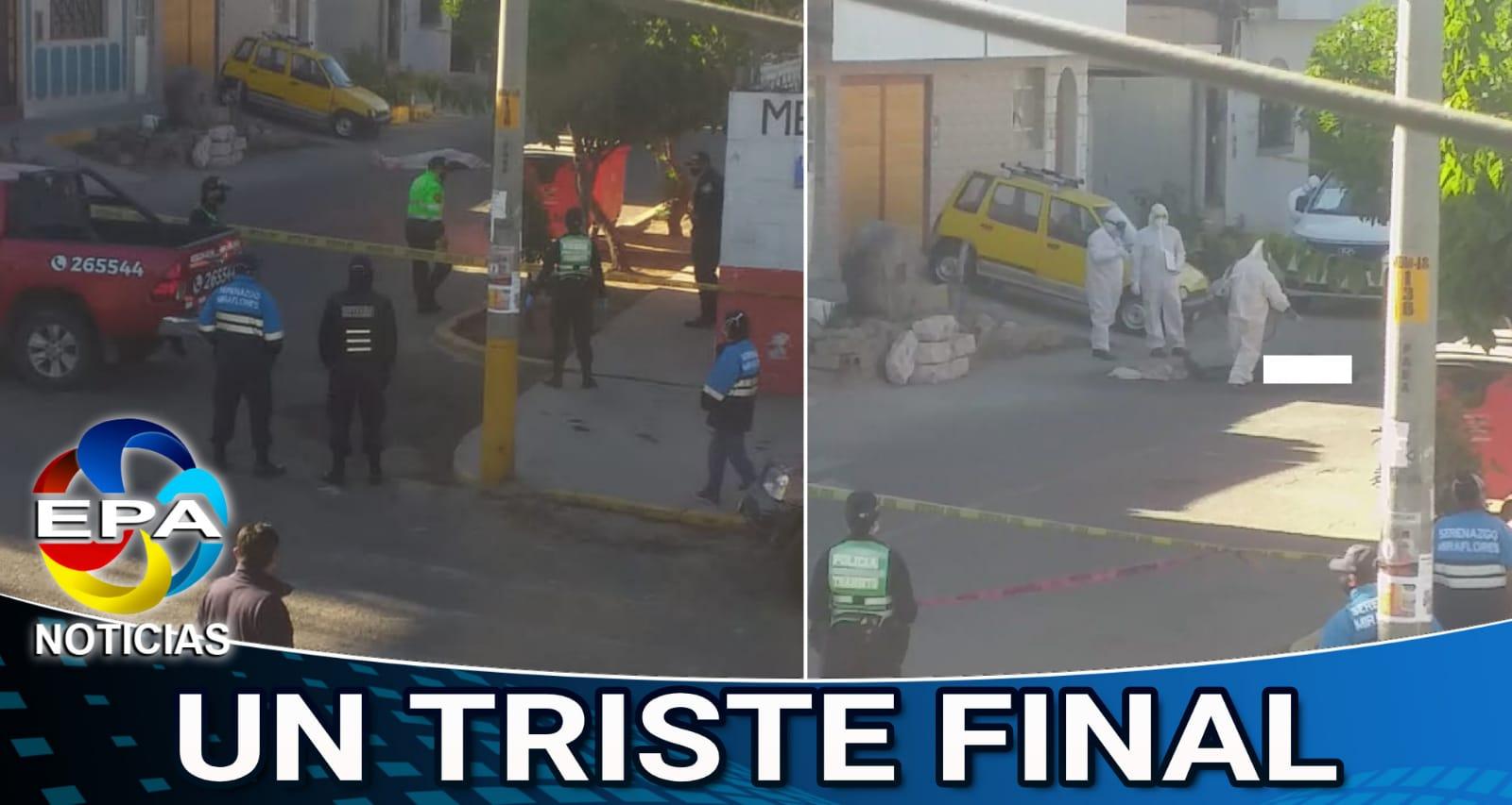 Arequipa. Varón murió a unos metros de su casa en Miraflores