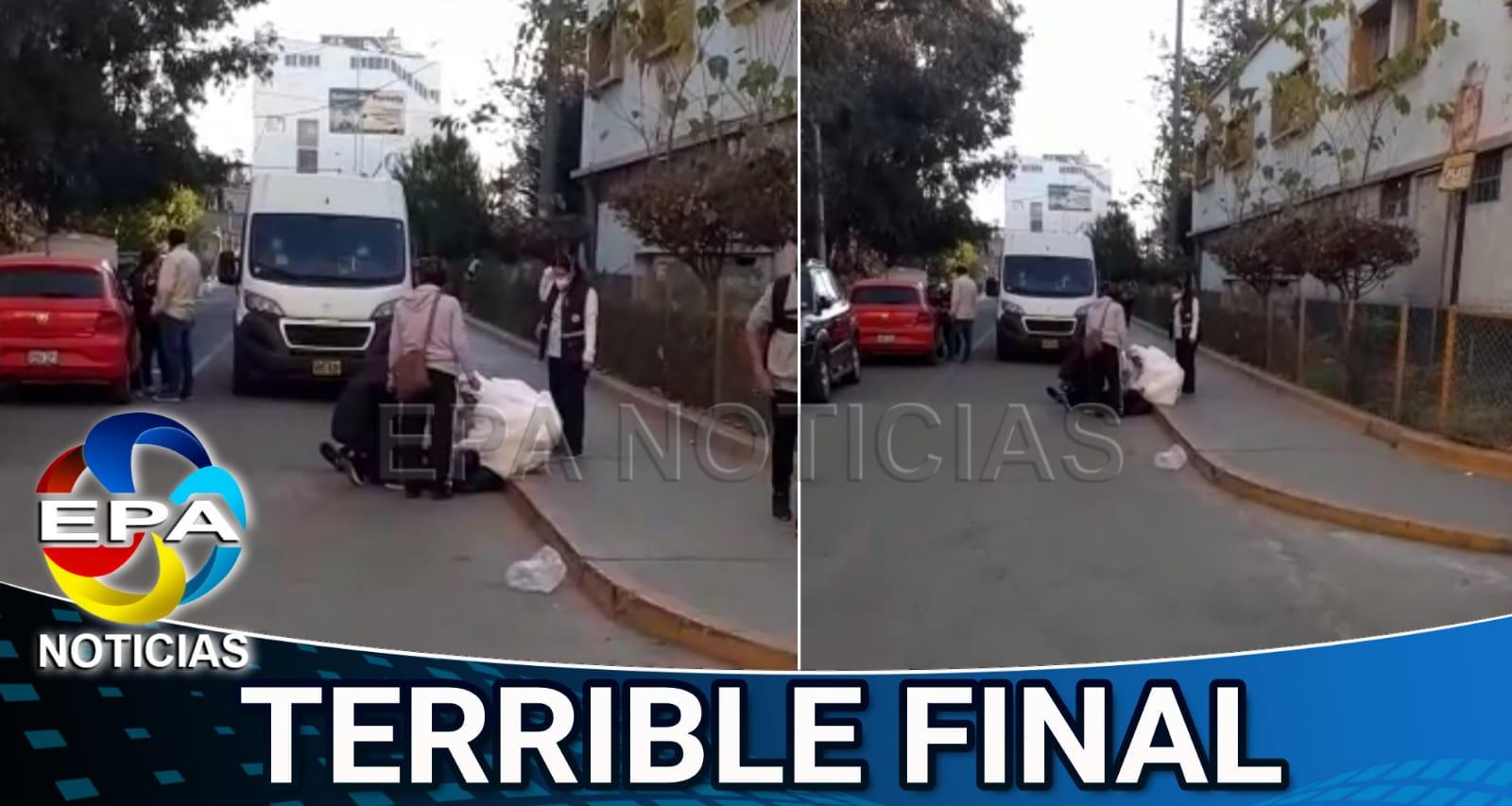 Arequipa. paciente murió cuando era llevado al hospital Honorio Delgado.