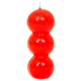 Vela Eco Bolas Vermelho