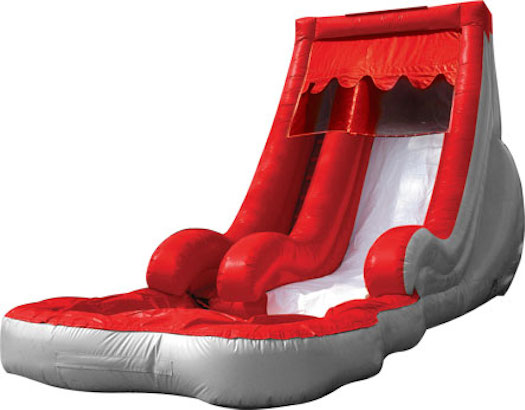 Volcano slide with Pool