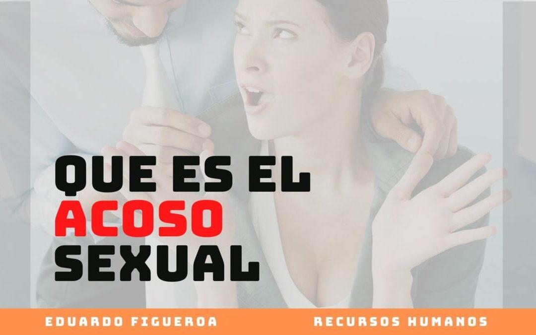 Que es el Acoso Sexual