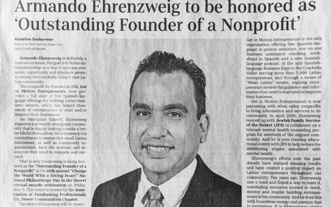 Los homenajeados destacados 2021 por el Día Nacional de la Filantropía