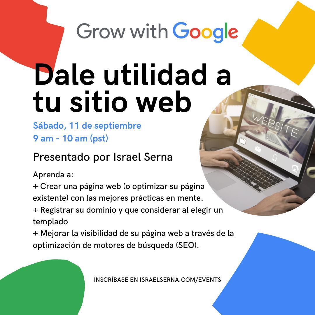 israel en dale utilidad a tu sitio web