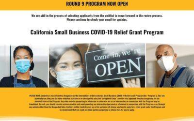 Aplica antes del 30 Sep 2021 CA Relief Grant