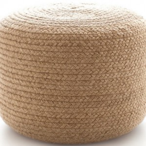 braided pouf