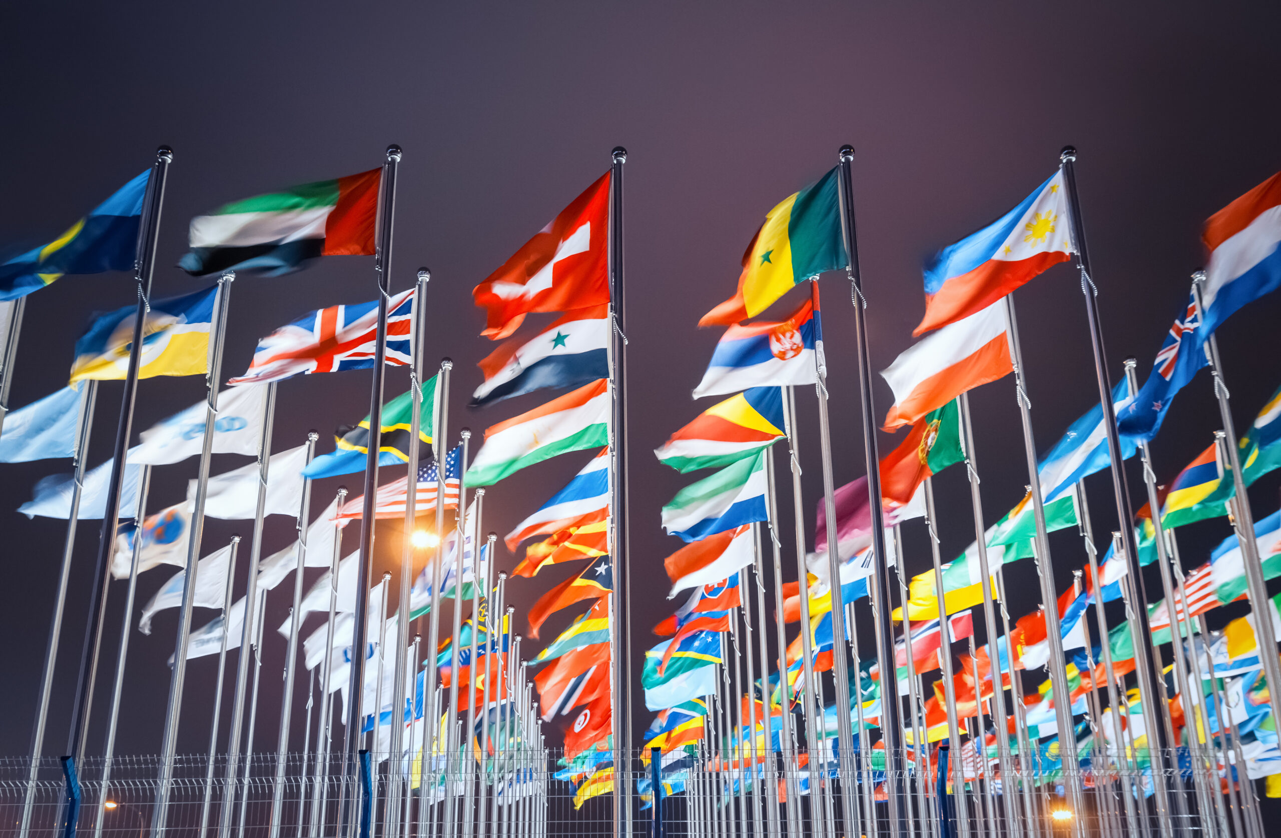 national flags of countries all over the world