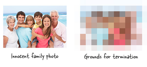 Mosaic blur effects in elearning