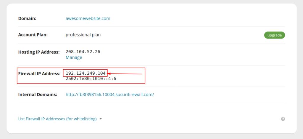 Locate WAF IP Address