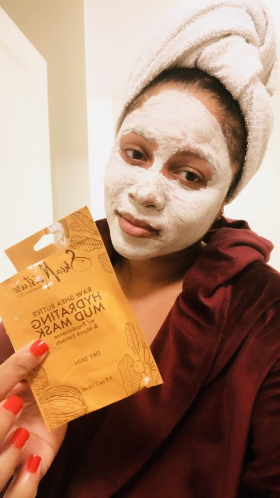 Apply your face mask for 10 minutes and remove with warm water.