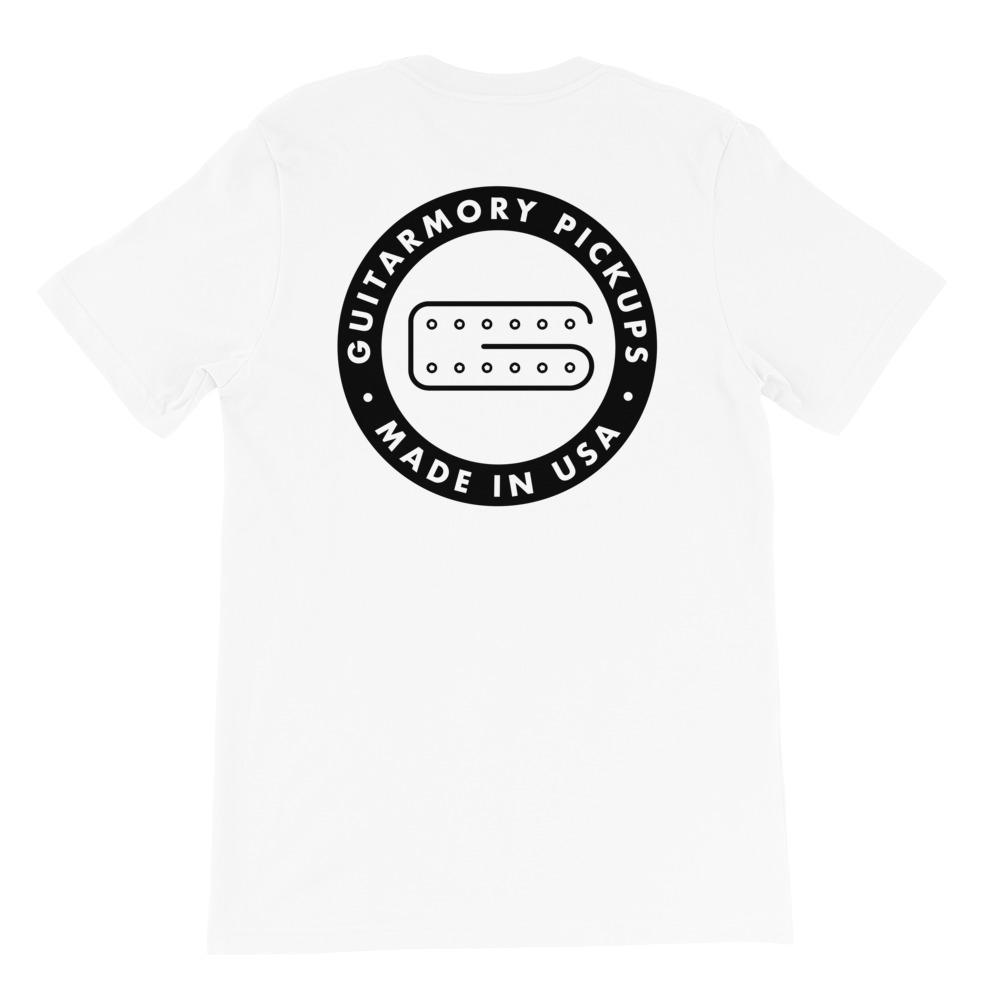 Guitarmory Pickups Short-Sleeve Unisex T-Shirt (White)