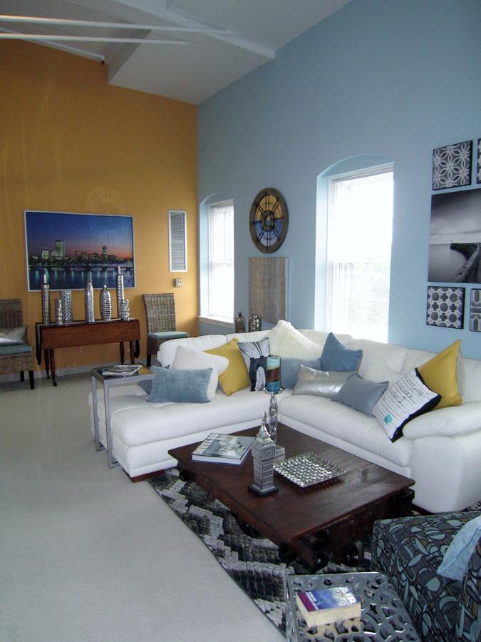Mill 3-4: living room looking left