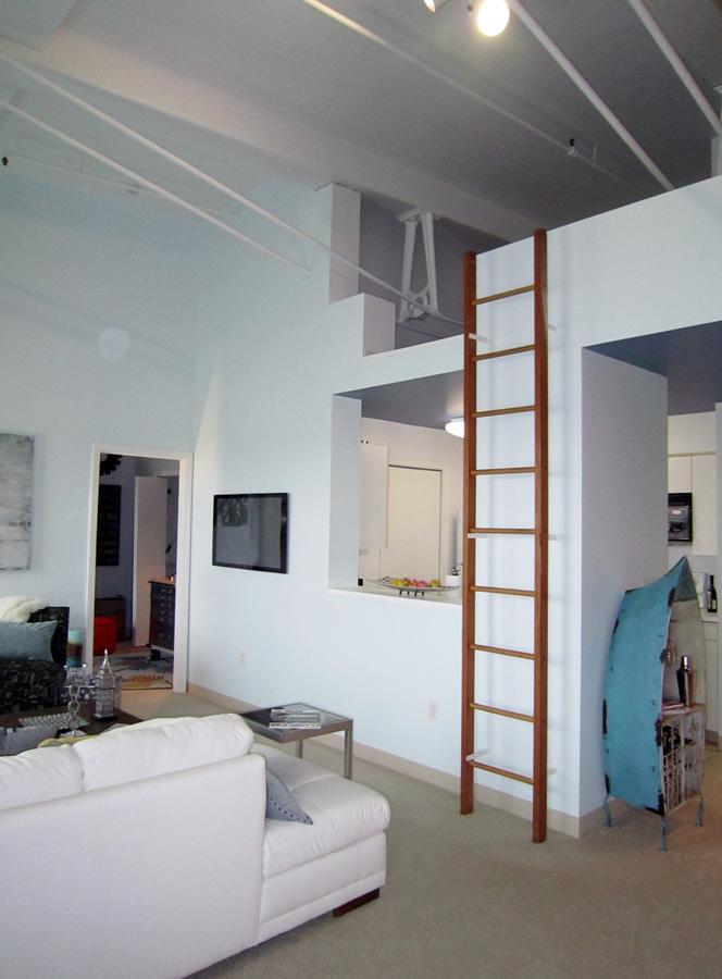 Mill 3-4: loft above kitchen area