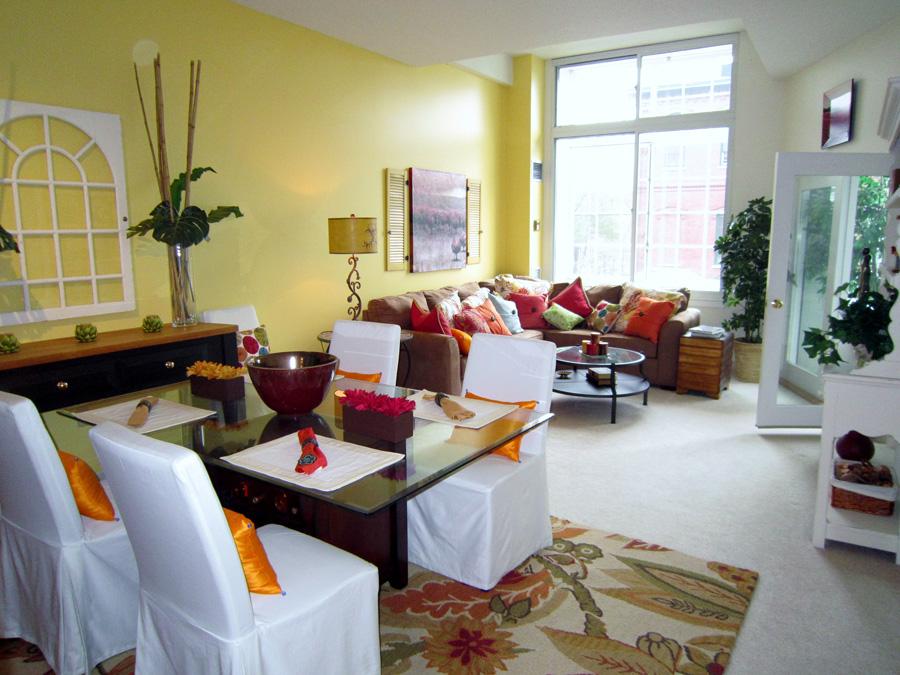 Mill 7: living room dining room landscape
