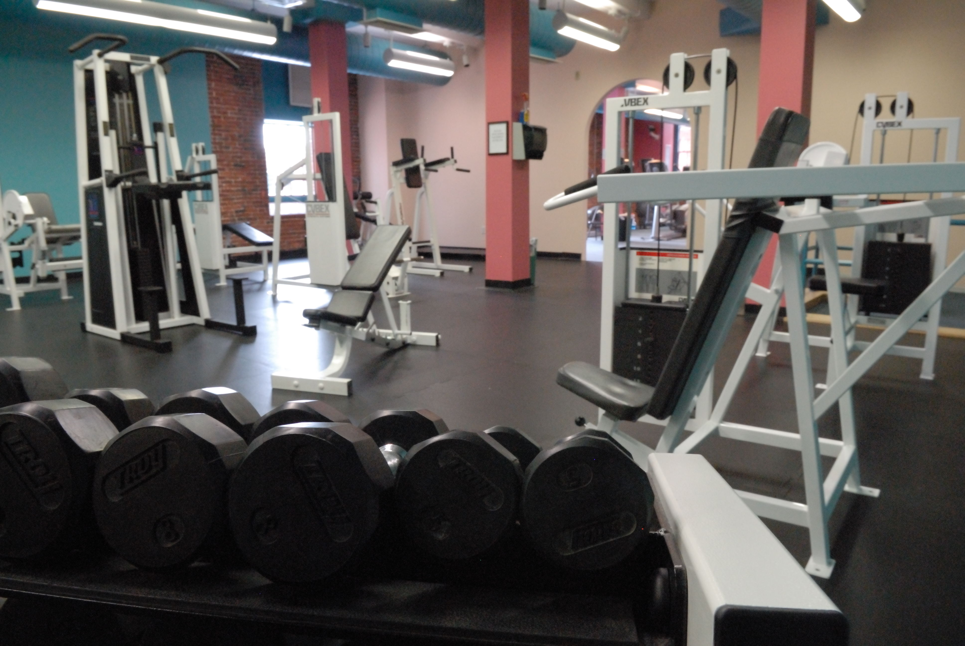 Health Club Weight Facility: From free weights to Nautilus exercise stations, press on!