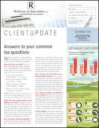 Rothman Spring 2021 Newsletter cover