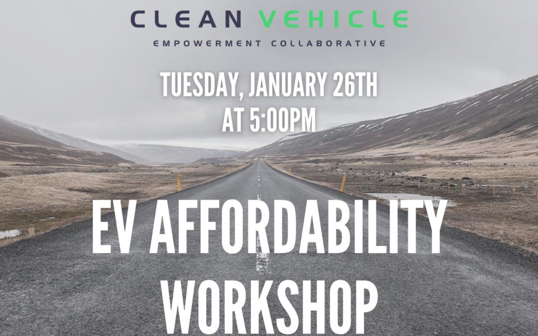 EV Affordability Workshop hosted by CCAC [POSTPONED]