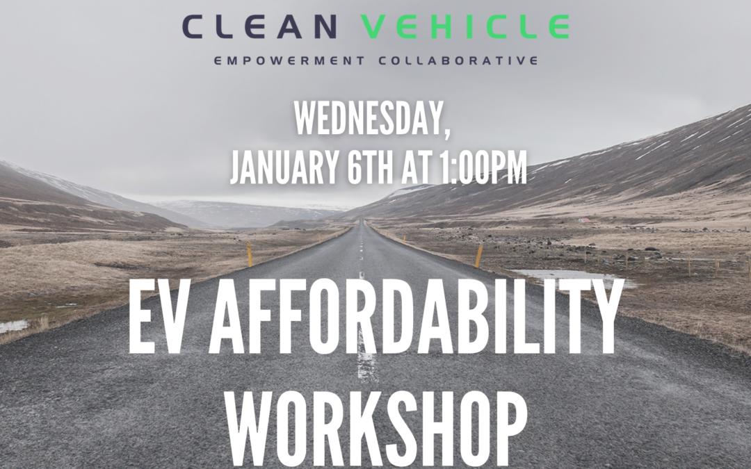 EV Affordability Workshop hosted by MCCJ