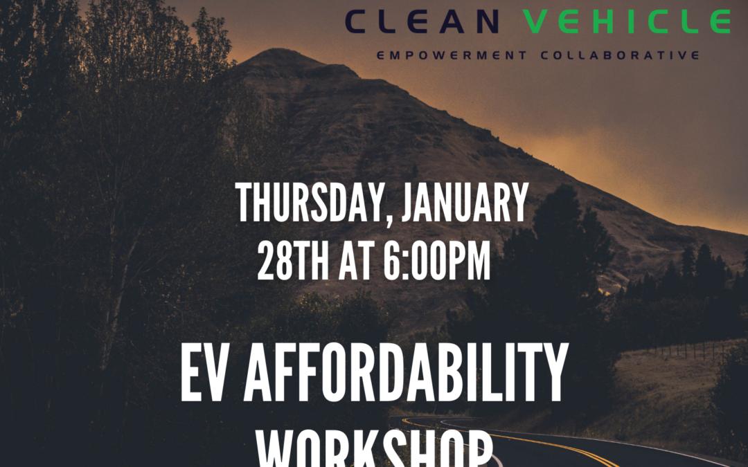 EV Affordability Workshop hosted by CCEJN
