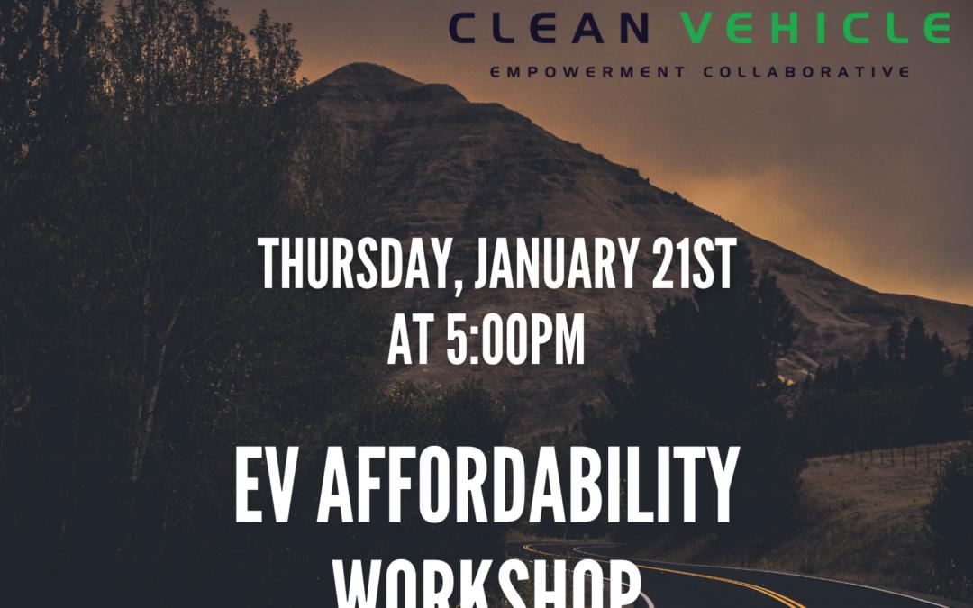 EV Affordability Workshop hosted by MCCJ [CANCELLED]