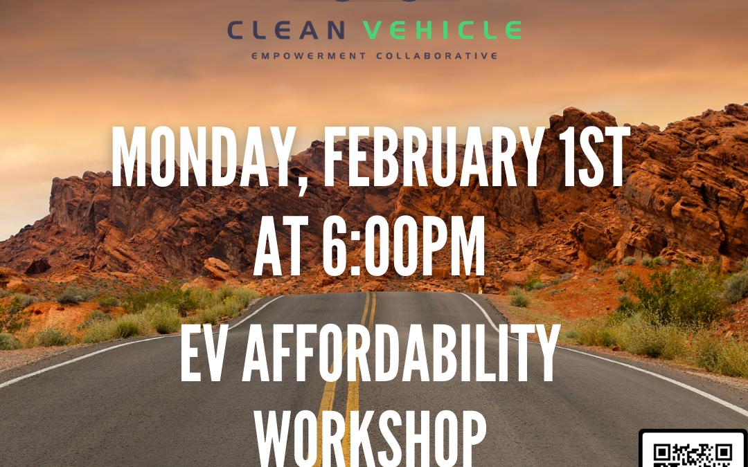 EV Affordability Workshop hosted by CCAC