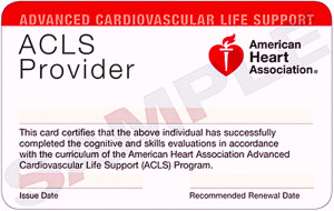 ACLS Card example