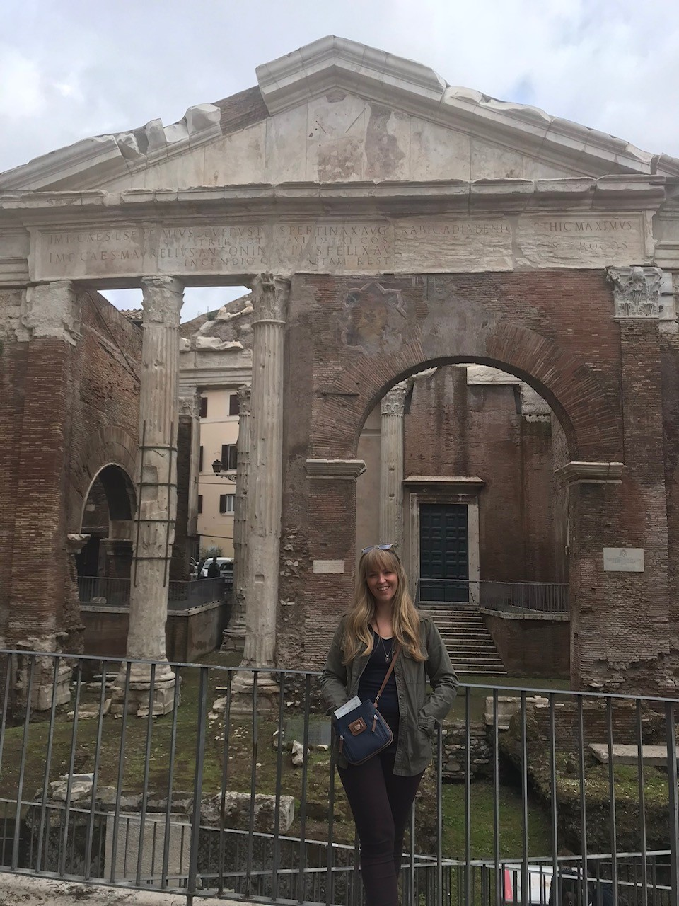 a woman in rome