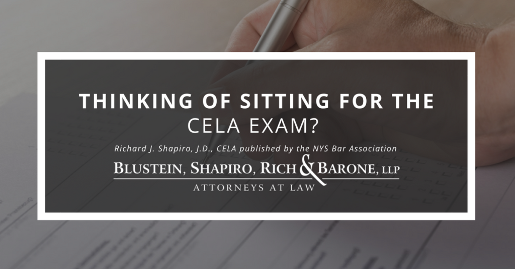 Thinking of Sitting for the CELA Exam?