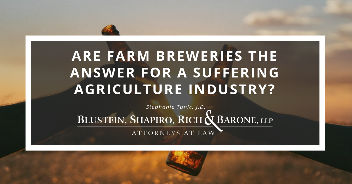 Are Farm Breweries the Answer for a suffering agriculture industry?