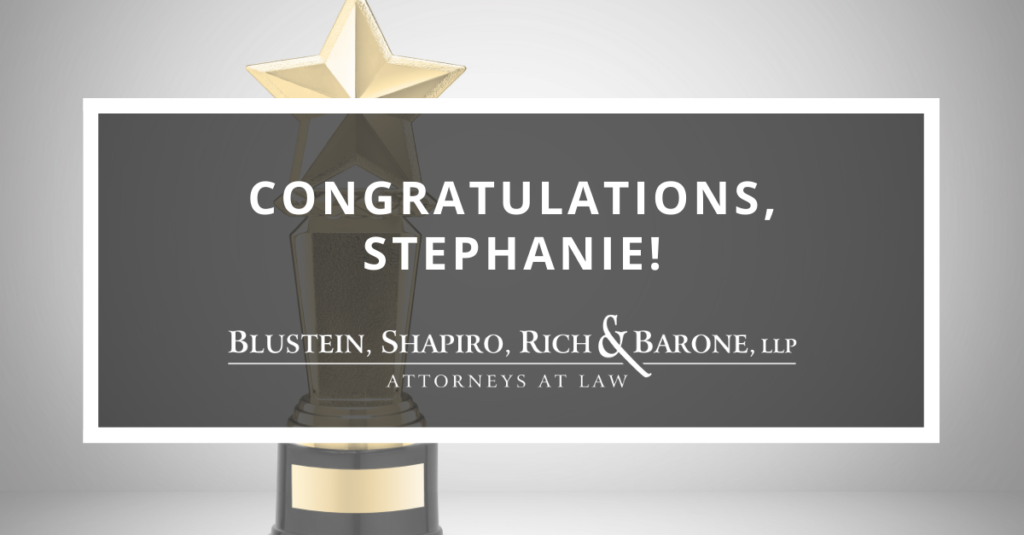 Congratulations Stephanie!