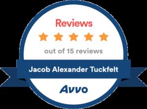 Jacob Alexander Tuckfelt: AVVO 5 stars out of 15 reviews