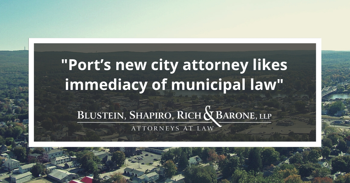 Port's new city attorney likes immediacy of municipal law, image of city of port jervis