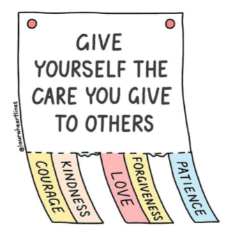 Give Yourself the Care You Give to Others graphic