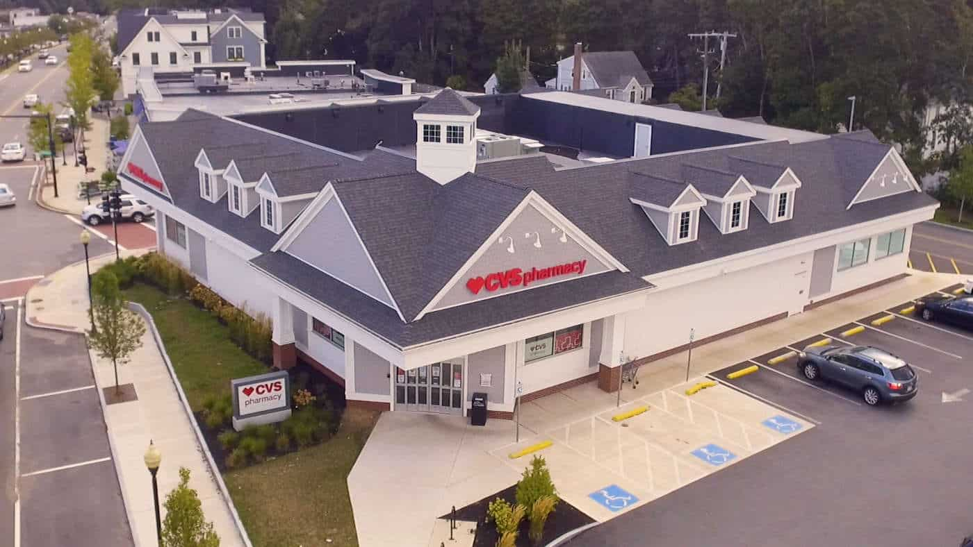 Overhead view of CVS