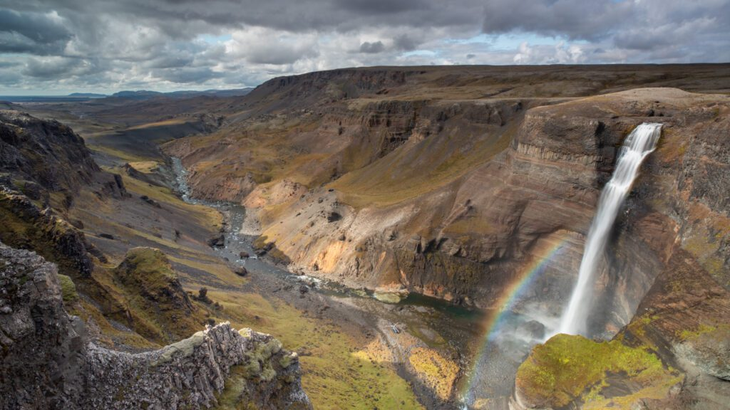 Haifoss in Highlands of Iceland