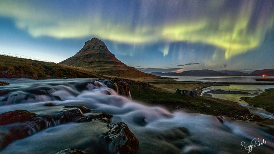 Northern Lights over Kirkjufell Iceland