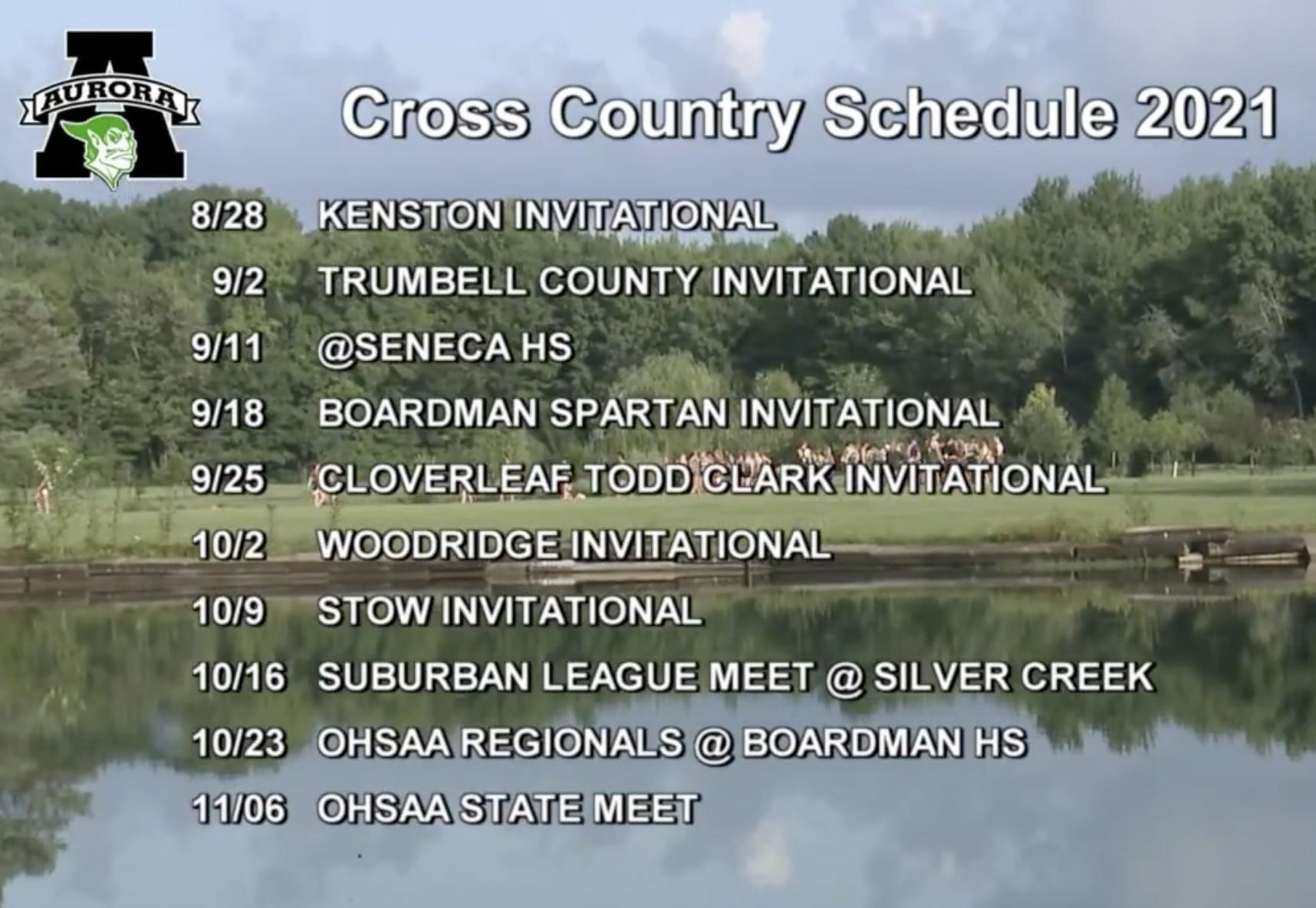 Aurora CC Schedule