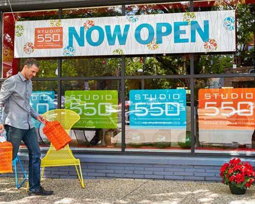 Studio 550 Now Open Banner