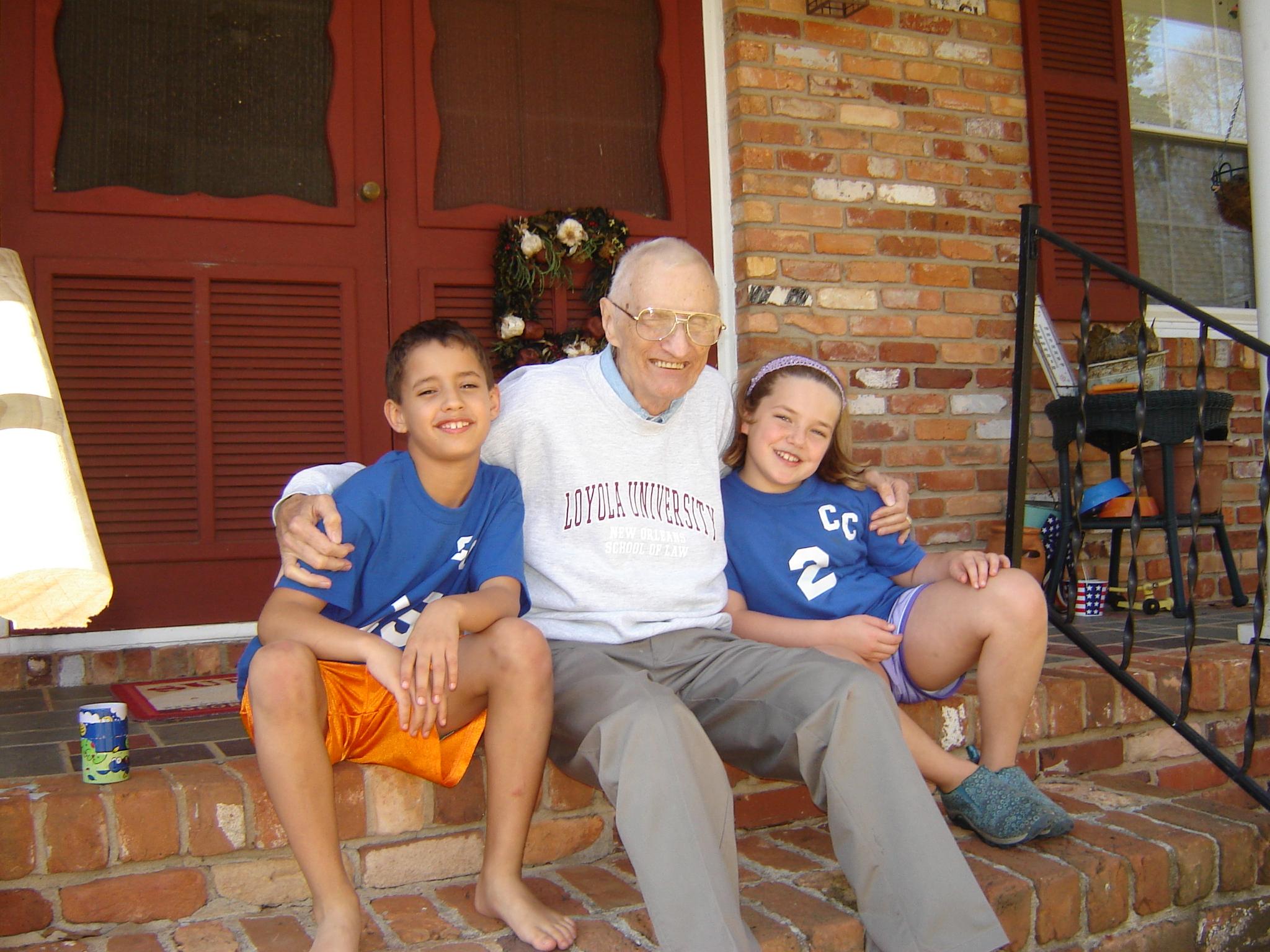 granpa tom with tudor and holly jan 07
