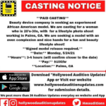 Hollywood audition updates