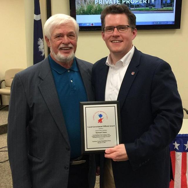 Laurens County Republican Party honors County Councilman Stewart Jones