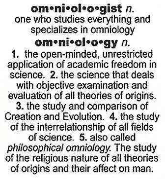 Omniologist definition 1999